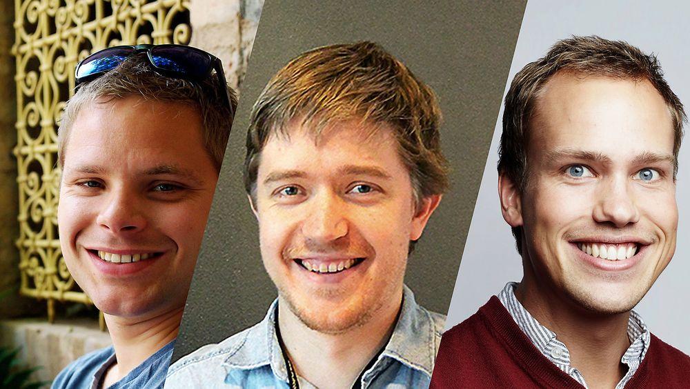 Finalistene i årets konkurranse, fra venstre mot høyre: Erik Eika fra Norconsult, Arnt Gunvald Fredriksen fra Multiconsult og Frode Seglem fra Faveo Prosjektledelse.