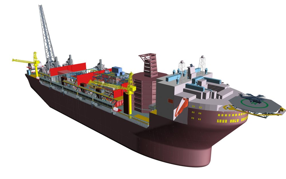 Aker Solutions boligkvarterkonsept for FPSO i Barentshavet: Bow Integrated Living Quarter.