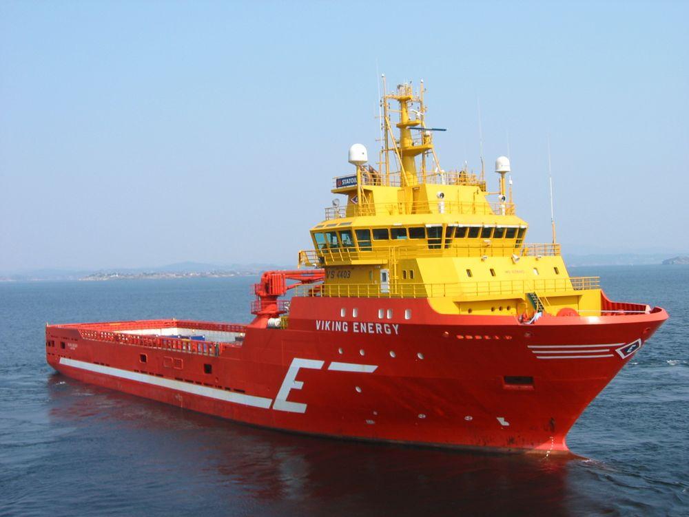 """Viking Energy var verdens første PSV med LNG-framdrift. Nå har hun også installert batterier og fått det godkjent som """"spinning reserve"""" ved DP-operasjoner."""