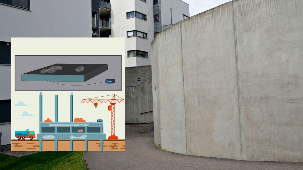 Ved å måle herdingen kan man, ifølge Nilsen, øke levetiden på betongbygg.