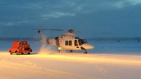 AW169 på kuldetesting i Alaska tidligere i år i forbindelse med sertifiseringsarbeidet.