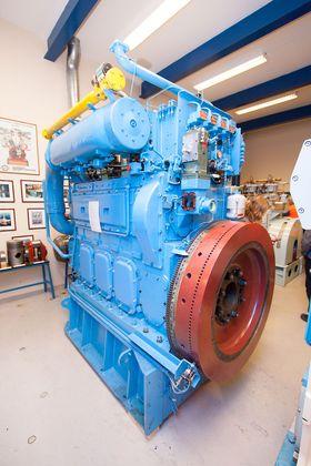 Bergen Engines' museum viser frem en testutgave av K-gass-motoren som ble kjørt på koksgass i Mo i Rana i 1986 og 1987.