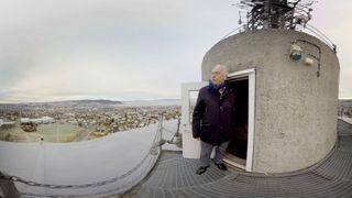 360 graders video: Bli med opp i Tyholttårnet