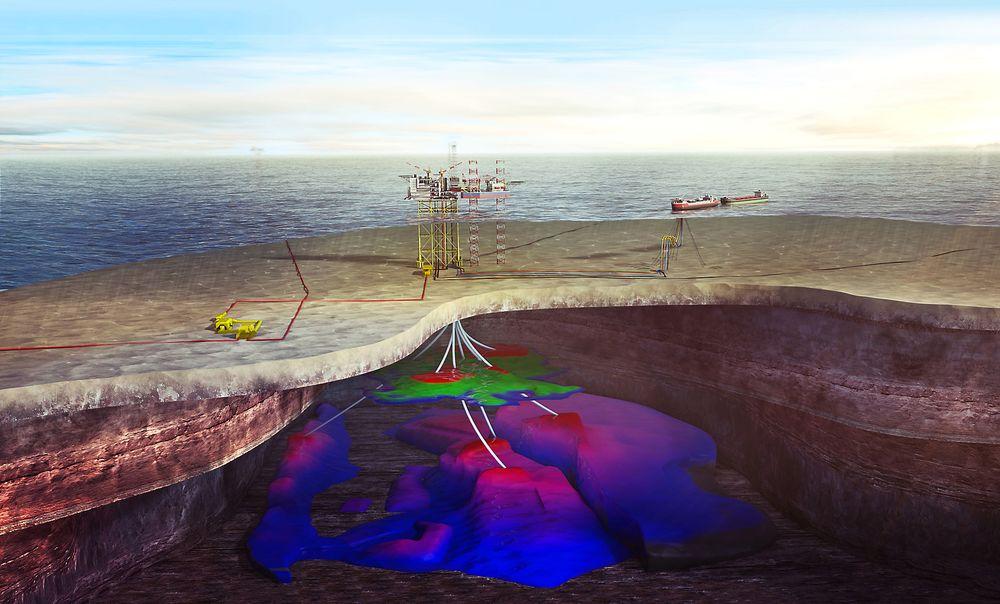 Martin Linge-feltet ligger i Nordsjøen og skal produsere om lag 190 millioner fat olje. Funnet het egentlig Hild og ble gjort allerede i 1975.