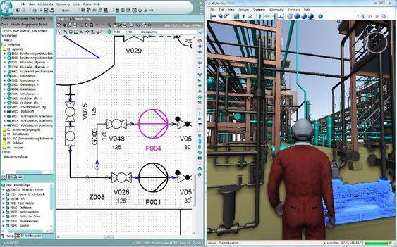 I simulatoren kan ulike komplekse simuleringer slik som menneskelig aktivitet på en oljeplattform simuleres i sanntid.