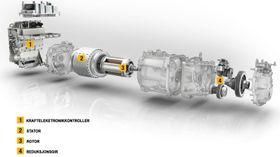 Utvidet oversikt over hovedkomponentene i Renaults R240-motor.