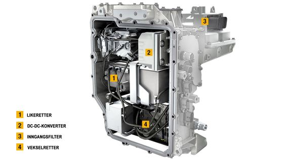 Kraftelektronikkmodulen i Renaults R240-motor.