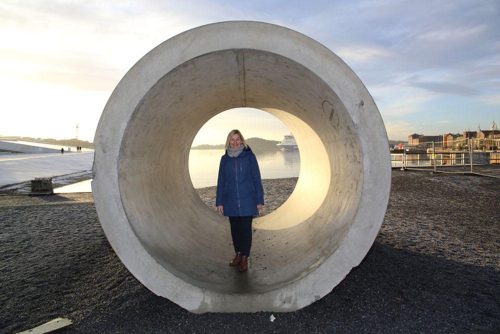 Milliardprosjekt: Den tidligere direktøren i vann- og avløpsetaten er ganske stolt over sitt første gigantprosjekt i Bjørvika. Det nye avløpsanlegget Midgardsormen har gjort at det nå er mulig å bade i havnebassenget.