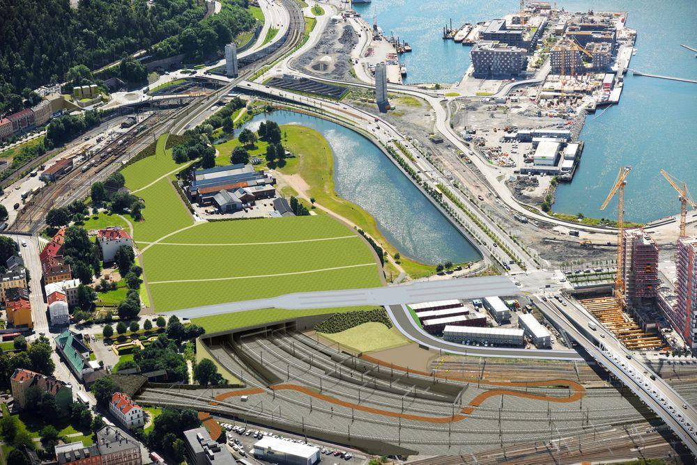 Mandag ble kontrakten om innføring av nye jernbanespor til Oslo S signert med italienske Condotte.