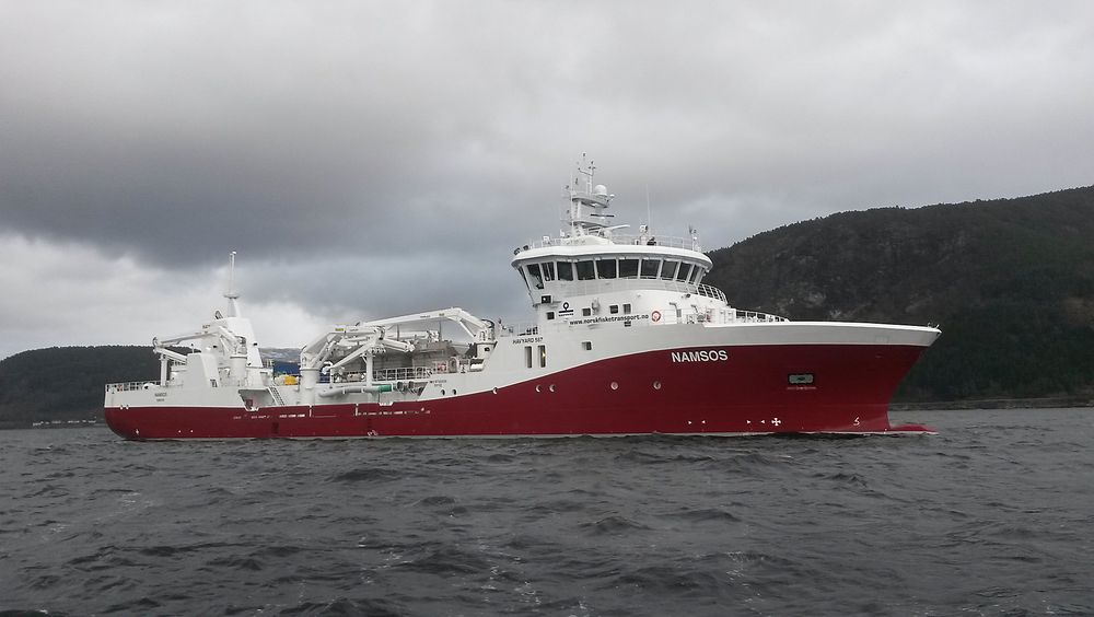 MMC Green Technology har levert ballastvannsystemer til de fleste nye brønnbåter. Dette er brønnbåten Namsos, bygget av Havyard for Norsk Fisketransport. Marine Harvest krever at brønnbåter har BWTS for å hindre smitte mellom oppdrettsanlegg.