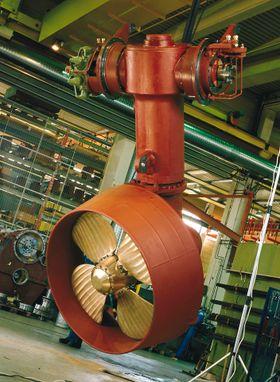 Oppsvingbar thruster produseres fortsatt i Ulsteinvik, men bedriften heter ikke lenger Ulstein propeller men Rolls-Royce Marine.