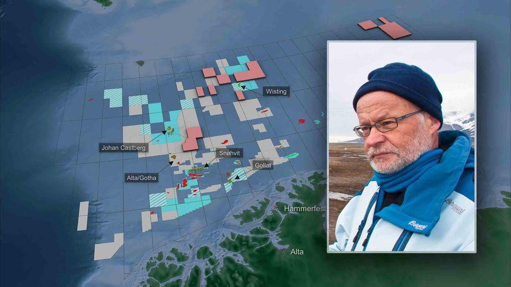Kartet viser et utvalg funn i Barentshavet så langt.