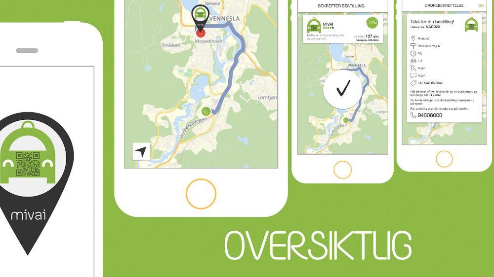 Med appen Mivai tror Kristiansand-bedriften Gomobile at de skal klare å lage et drosje-alternativ til Uber.