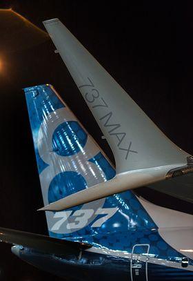Nytt haleparti og nye vingetupper på B737 Max.