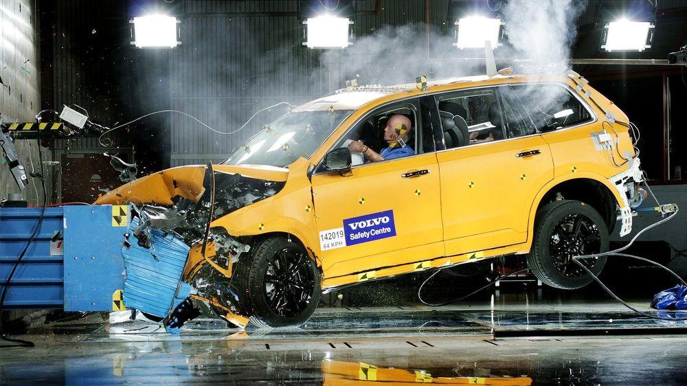 Bilde fra Volvos egen testing i forbindelse med utviklingen av XC90.