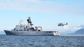 Det ble gjennomført nærmere tusen landinger med NH90 på KV Senja i fjor. Her er helikopteret etter den første fiskeriinspeksjonen høsten 2014.
