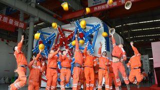 Singapore tar i bruk firkantet tunnelboremaskin