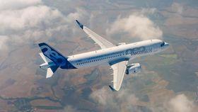MSN-6101 fløy første gang 25. september 2014. A320 Neo ble sertifisert for to måneder siden.