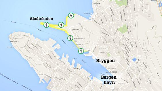 Bergen har en ambisiøs plan for landstrømutbygging og søkte om støtte for hele prosjektet. Enova ga ikke en krone.