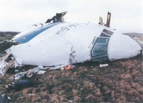 Vraket av Clipper Maid of the Seas som ble sprengt over Lockerbie 21. desember 1988.