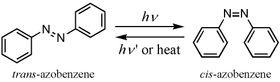 Når UV-lys med en gitt bølgelengde treffer molekylet, endrer det form, og lagrer energi.