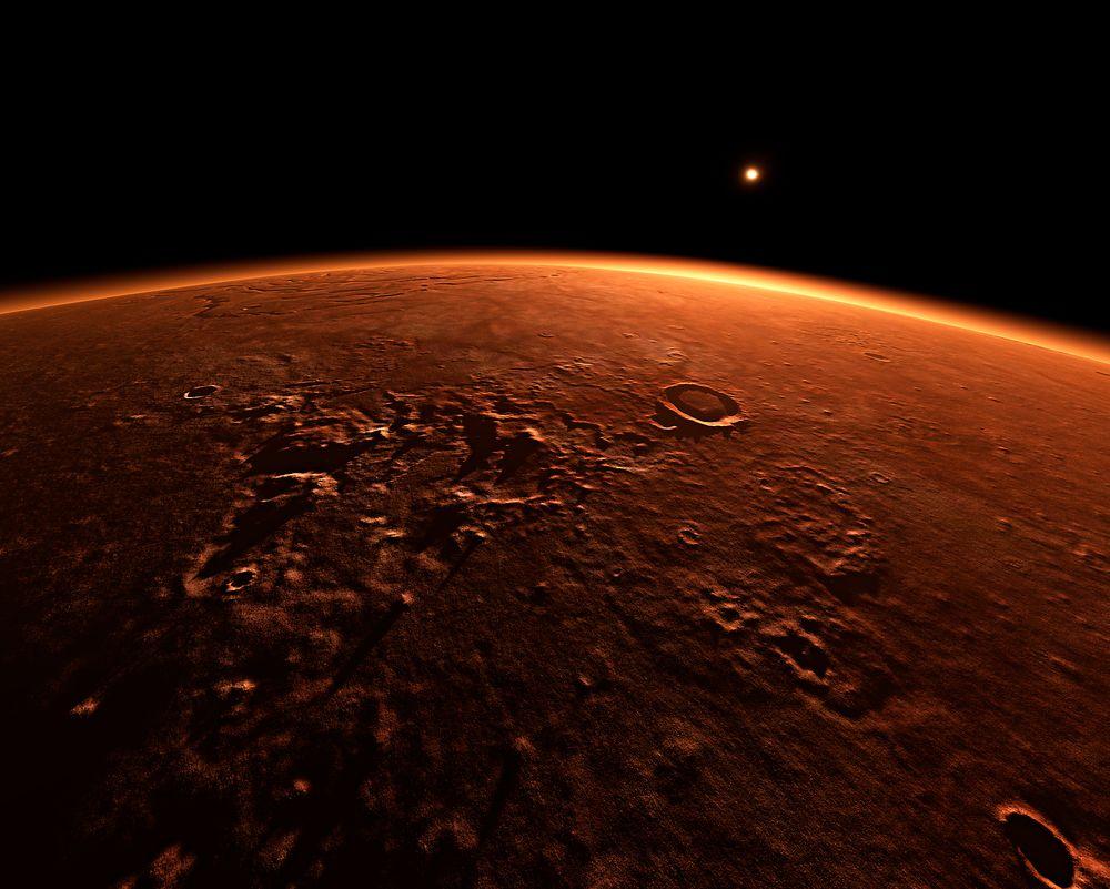 Amerikanske forskere jobber med utviklingen av en vannløs betong som skal kunne brukes til bygging på Mars.