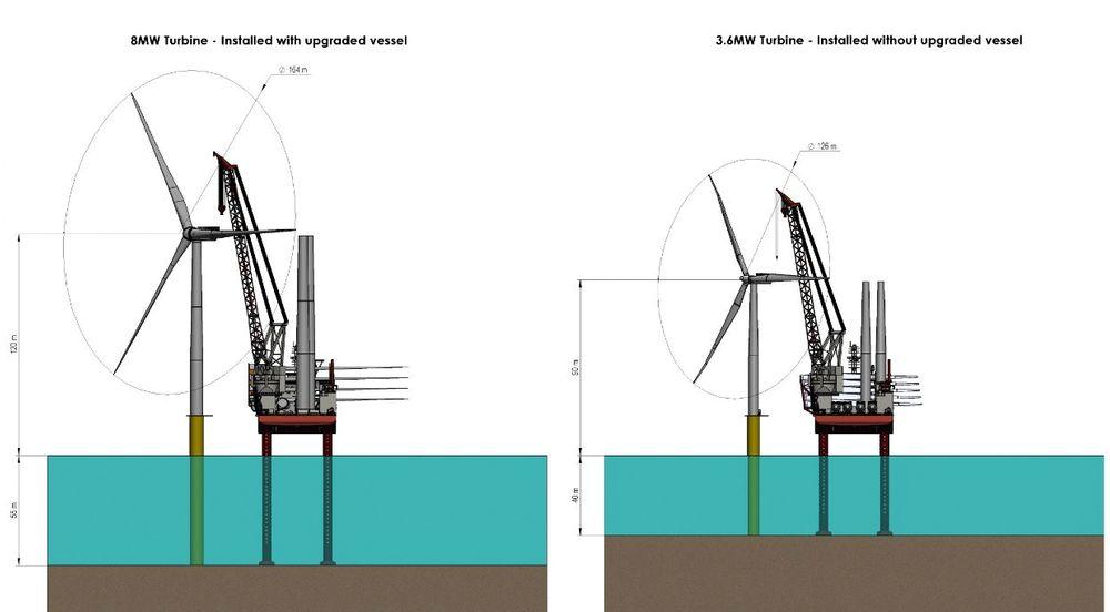 Større, tyngre, dypere: Slik skal Fred. Olsen Windcarriers installasjonsskip rustes til å installere havvindmøller i dypere sjø og takle den største havvindmøllen på markedet i dag.