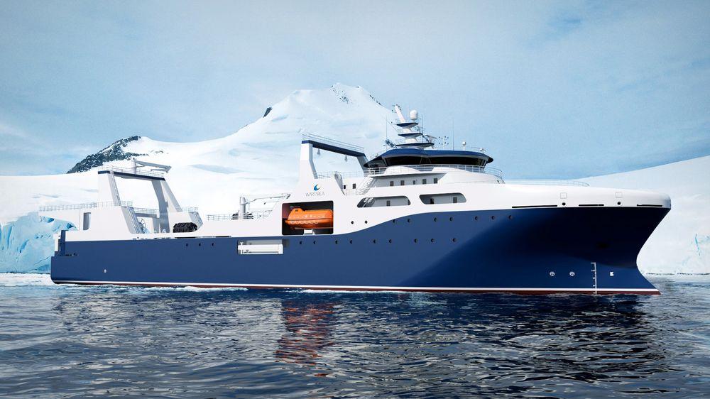 Wärtsilä Ship Design har designet en VS 6206 for krillfiske i Antarktis for et kinesisk fiskeselskap. Det blir 115 meter langt og skal ha et stort bearbeidingsanlegg om bord. Dermed trengs det mange ansatte, og det er 99 sengeplasser om bord.