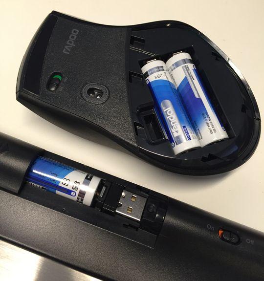 Du kan gjemme mottakeren i enten musen eller tastaturet når du skal.