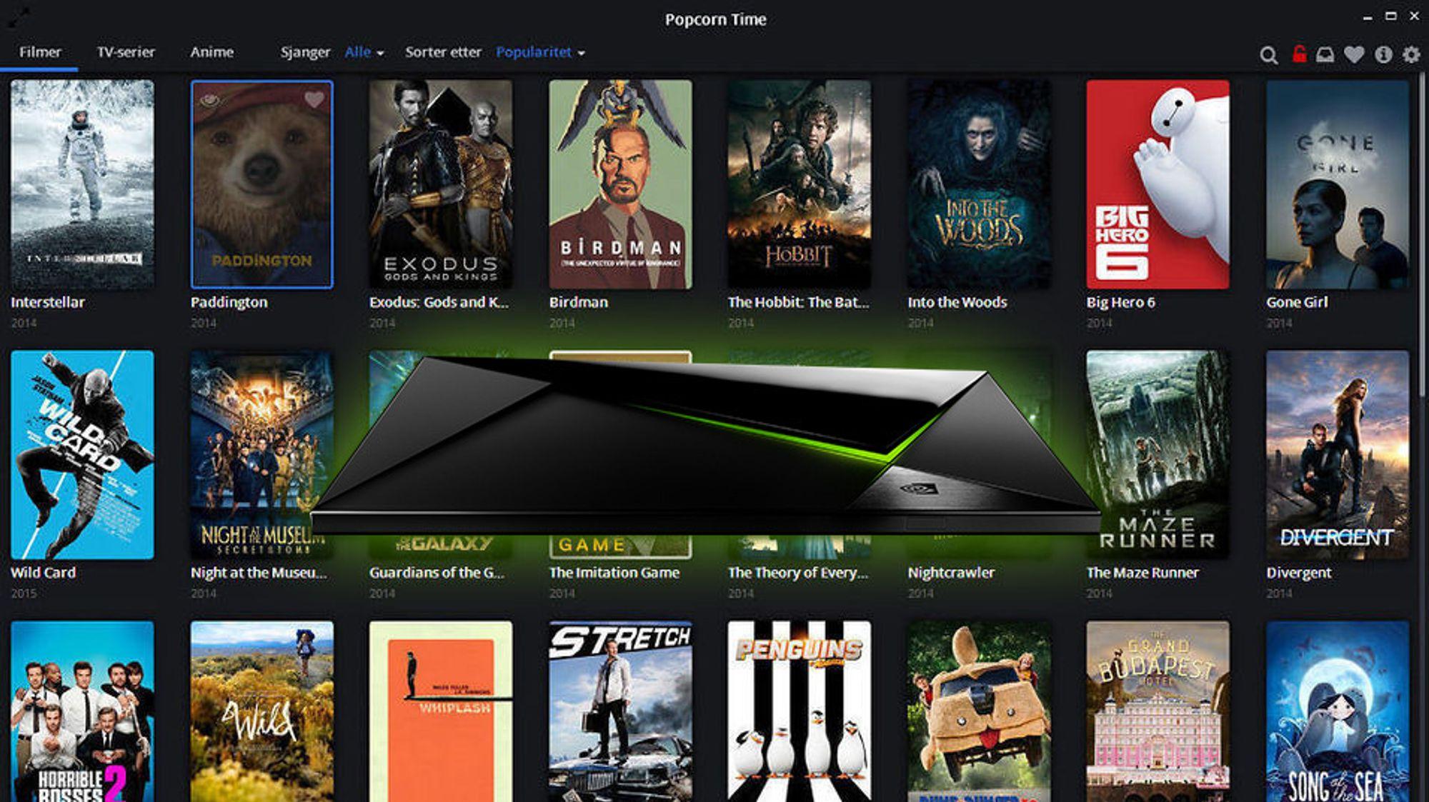 Popcorn Time er nå tilgjengelig for alle med Android TV.