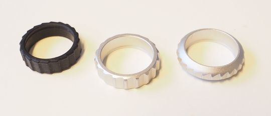 Rulle-hjulet kan ha tre ulike overflater.