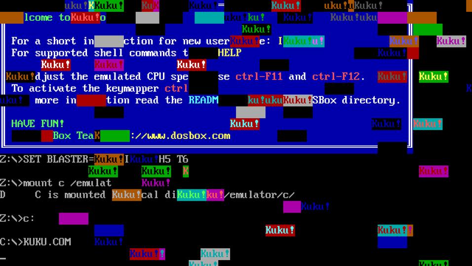 Eksempel på «retro-virus» fra The Malware Museum.