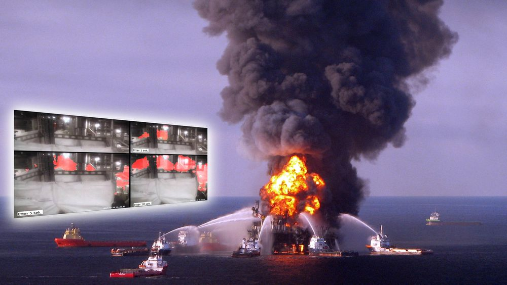Macondo-ulykken i Mexicogolfen i 2010 førte til store ødeleggelser og flere tapte liv. Gasslekkasjen på Gudrun (innfelt) kunne gitt samme utfall, ifølge brannforsker Ragnar Wighus ved SP Fire Research.