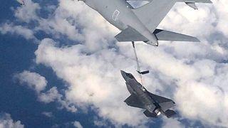 F-35 fylte drivstoff sju ganger på flyturen over Atlanteren