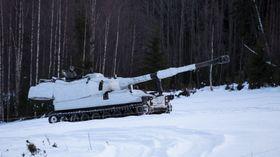 M109 under testingen på Rena.