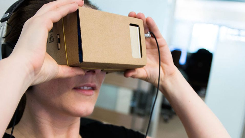 Slik så det ut da vi testet ut dagens Google Cardboard-briller i fjor.
