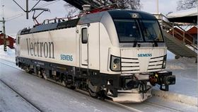 Lokomotiv BR 193 Vectron som sporet av.