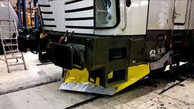 Den nyutviklede plogen til Vectron-lokomotivet.