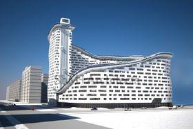 Etter planen skal Slalom House inneholde 421 leiligheter, næringslokaler, skiheis og en slalåmbakke i spiral rundt bygget.