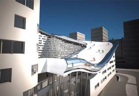 Hele bygget er estimert å koste rundt 600 millioner kroner.