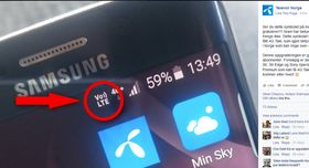 Galaxy S7-eiere vil se et VoLTE-symbol på sine telefoner når funksjonen er aktivert.