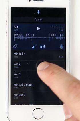 Apple Musikkopptak er som en musikalsk kladdebok på mobiltelefonen.