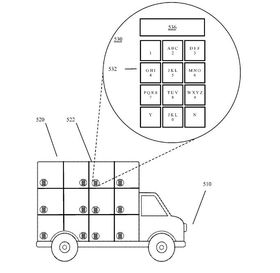 Google har fått patent på en selvkjørende lastebil for utkjøring av varer.