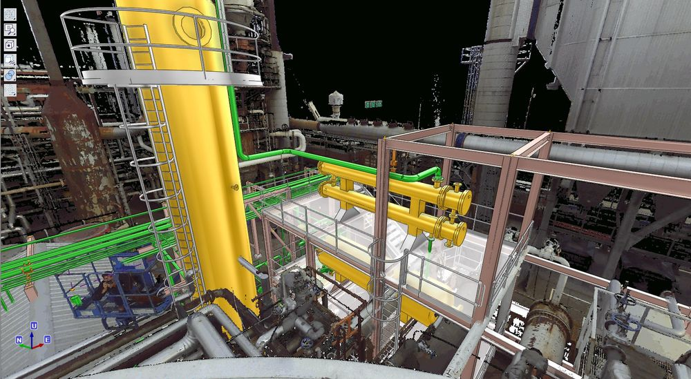 Seamless integration of Laser scan data in the AVEVA Everything3D BubbleView