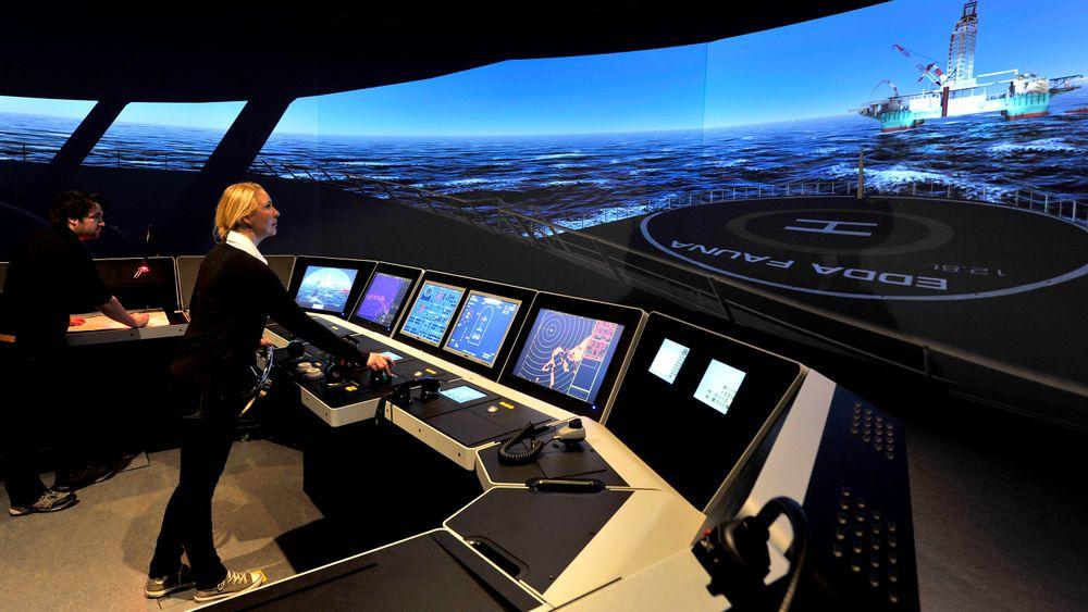 Kongsberg Gruppen leverer blant annet simulatorer til trenging av offshore-personell.
