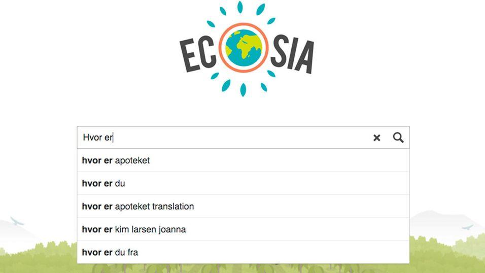 Ecosia er navnet på en søkemotor med «sosial bevissthet».