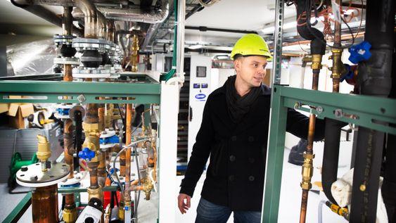 Varmen fra kjøle- og frysedisk skal kjøres inn i i butikkens ventilasjonssystem og varme luften ved behov. Per Erik Silseth i Norgesgruppen Eiendom .