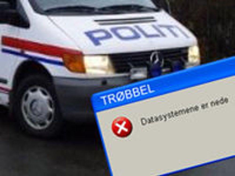 Politiet er lammet av virus