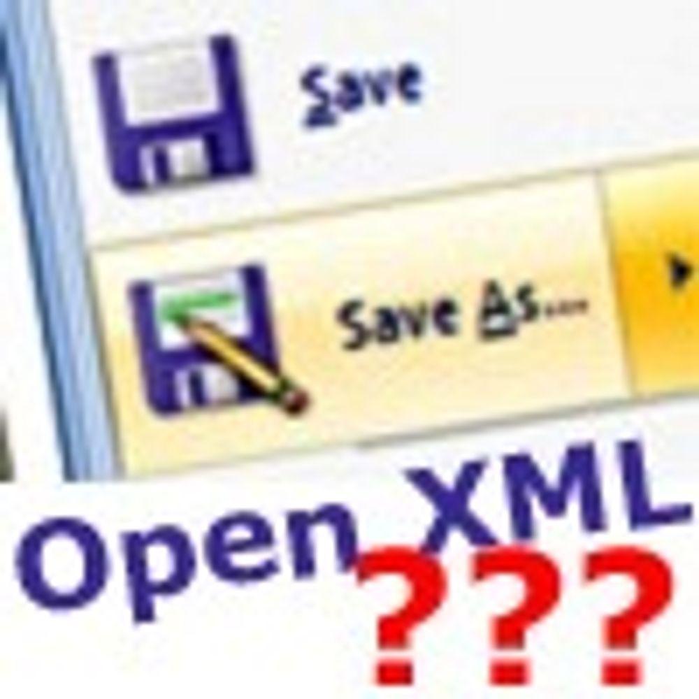 Mener Regjeringen bør godta Open XML