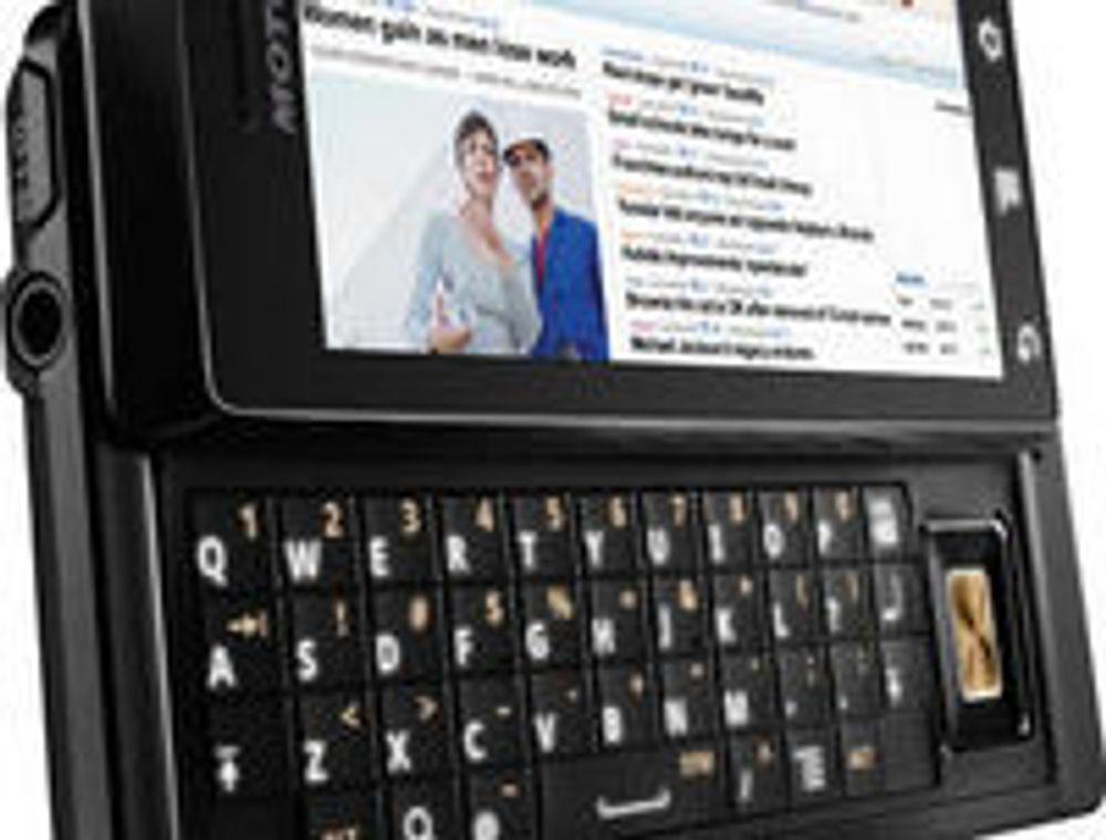 Motorola Droid blir den første mobiltelefonen på markedet som tar i bruk Android 2.0.